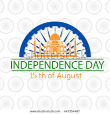 indian independence day greeting card poster stock vector
