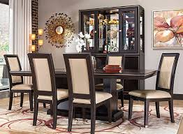 raymour and flanigan dining room sets callister 7 pc dining set chocolate raymour flanigan