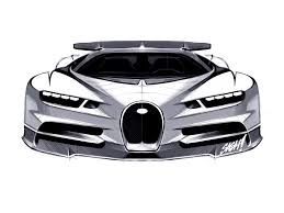 bugatti car drawing bugatti chiron u2013 2016 supercar sketches