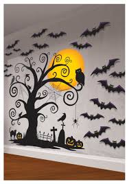 halloween stuff on black background indoor wall decorating kit spooky halloween indoor and walls