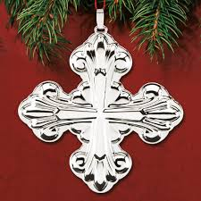 2017 reed barton cross 47th sterling ornament