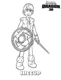 train dragon main character hiccup coloring pages