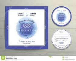 nautical tying the knot water colour wedding invitation and rsvp