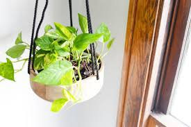 diy wooden hanging planter