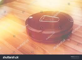 Laminate Flooring Cleaning Machines Robot Vacuum Cleaner On Laminate Wood Stock Photo 407803126