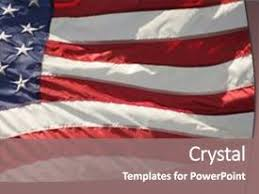 powerpoint template red white and blue fireworks behind