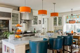 15 photos orange pendant lights for kitchen