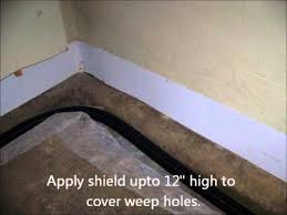 Interior Waterproofing Interior Basement Waterproofing Block Foundation Youtube