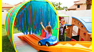 giant roller coaster tunnel kids ride challenge quick grab