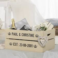personalised wedding gifts personalised wedding gift wooden crate