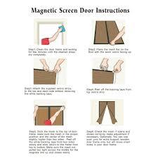 magic mesh garage door magic mesh mm011124 screen door with 18 magnets 83x19 5 inch