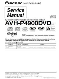 pioneer avh p4900dvd service manual pdf download