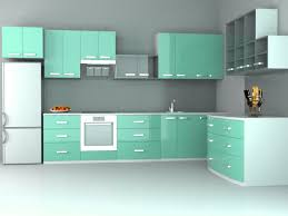 Modular Kitchen Interiors Beautiful Modular Kitchen Interior White Green Way2nirman