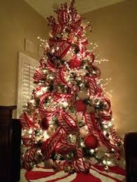 Decorated Christmas Trees by Professionally Decorated Christmas Trees With Ribbon Bedroom