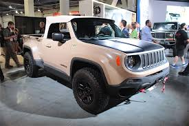 jeep renegade comanche pickup concept sema 2016 fca booth goes retro with mopar classics
