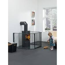 buy babydan xl fire surround configure gate black john lewis