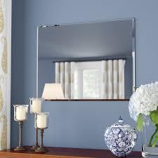 Frameless Bathroom Mirror Andover Mills Rectangle Metal Frameless Wall Mirror U0026 Reviews
