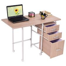 amazon com tangkula folding computer laptop desk wheeled home