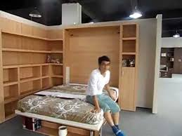 Office Desk Bed Space Saving Wall Bed Vertically With Bookshelf And Office