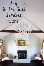 ideas painted fireplace white brick fireplace designs cool red