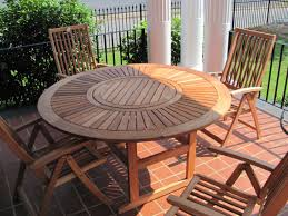 Wooden Patio Table And Chairs Wood Patio Table Set New Appealing Unpolished Teak Wood