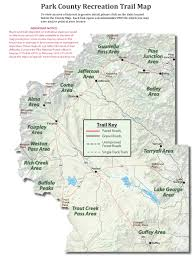 Colorado Trail Maps by Trail Maps Park County Co