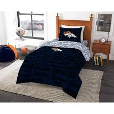 NFL Denver Broncos Bed In A Bag Complete Bedding Set Walmartcom - Bedroom furniture denver