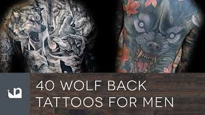 40 wolf back tattoos for