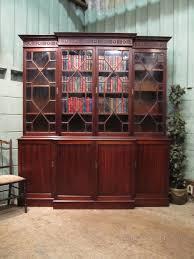 Break Front Bookcase Antique Mahogany Breakfront Bookcase C1920 Antiques Atlas