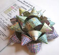 paper gift bows diy map gift bow lushlee