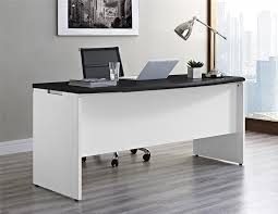 Executive Office Desk Furniture Amazon Com Altra Pursuit Executive Desk White Gray Kitchen U0026 Dining