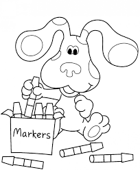crayon coloring pages blue u0027s clues coloringstar