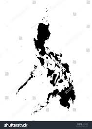 Map Of Phillipines Detailed Map Philippines Black White Mercator Stockillustration