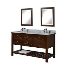 bathroom sink cabinets with marble top direct vanity sink mission spa 60 in double vanity in dark brown