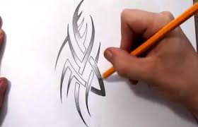quick sketch of a tribal tattoo design with some shading youtube