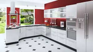 Red Walls In Kitchen - red and white kitchen cabinets flatblack co