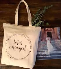wedding totes totes engaged tote bag gift to be engagement