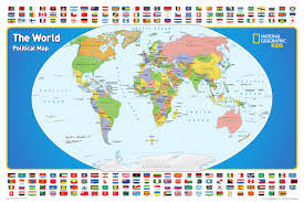 Map Poster Kids World Map From National Geographic World Maps National