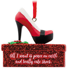 santa high heel shoe hallmark ornament gift ornaments hallmark