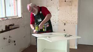how to install kitchen cabinets diy how to install cabinet hinges diy at bunnings youtube