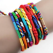 braided bracelet images 10 pieces bohemian colorful braided bracelets the enchanted forest jpg