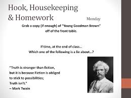 young goodman brown study guide answers eng8lit wk4 qt3 ppt