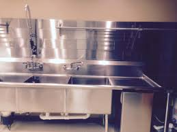 commercial kitchen design stainless steel tile backsplash in
