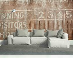 Wall Murals For Living Room Vintage Baseball Scoreboard Wall Mural Old Cool Wall