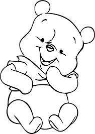 winnie the pooh cute baby coloring page wecoloringpage