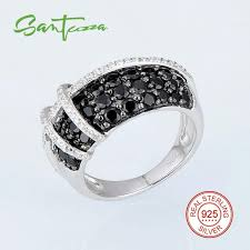sted rings rings for woman black created spinel cubic zirconia women