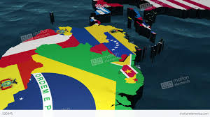 The Americas Map 3d Map Pan Through The Americas With Flags Stock Animation 530945