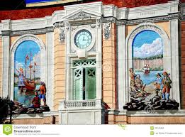 trompe l oeil wall murals in yonkers ny editorial image image 17th
