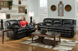 Black Leather Sofa Recliner Furniture Build Your Dream Living Room With Cool Leather