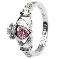 friendship rings meaning birthstone silver claddagh ring ls sl90 10